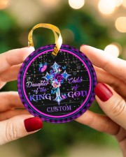 God - Daughter Of The King - Personalized  Circle ornament - single (porcelain) aos-circle-ornament-single-porcelain-lifestyles-08