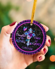 God - Daughter Of The King - Personalized  Circle ornament - single (porcelain) aos-circle-ornament-single-porcelain-lifestyles-09