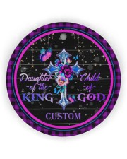 God - Daughter Of The King - Personalized  Circle ornament - single (wood) thumbnail