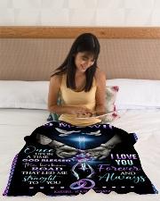 """To My Wife - God - Fleece Blanket Small Fleece Blanket - 30"""" x 40"""" aos-coral-fleece-blanket-30x40-lifestyle-front-12"""