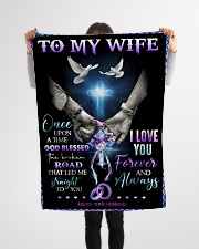 """To My Wife - God - Fleece Blanket Small Fleece Blanket - 30"""" x 40"""" aos-coral-fleece-blanket-30x40-lifestyle-front-14"""
