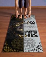 God - Lion - Yoga Mats  Yoga Mat 24x70 (vertical) aos-yoga-mat-lifestyle-26