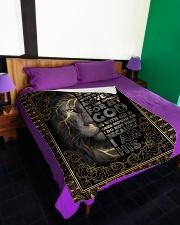 """FLEECE BLANKET - GOD - LION Large Fleece Blanket - 60"""" x 80"""" aos-coral-fleece-blanket-60x80-lifestyle-front-01"""