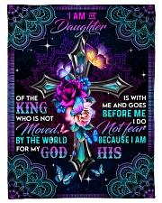 God - Daughter Of The King - Fleece Blanket Fleece Blanket tile