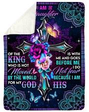 God - Daughter Of The King - Fleece Blanket Sherpa Fleece Blanket tile