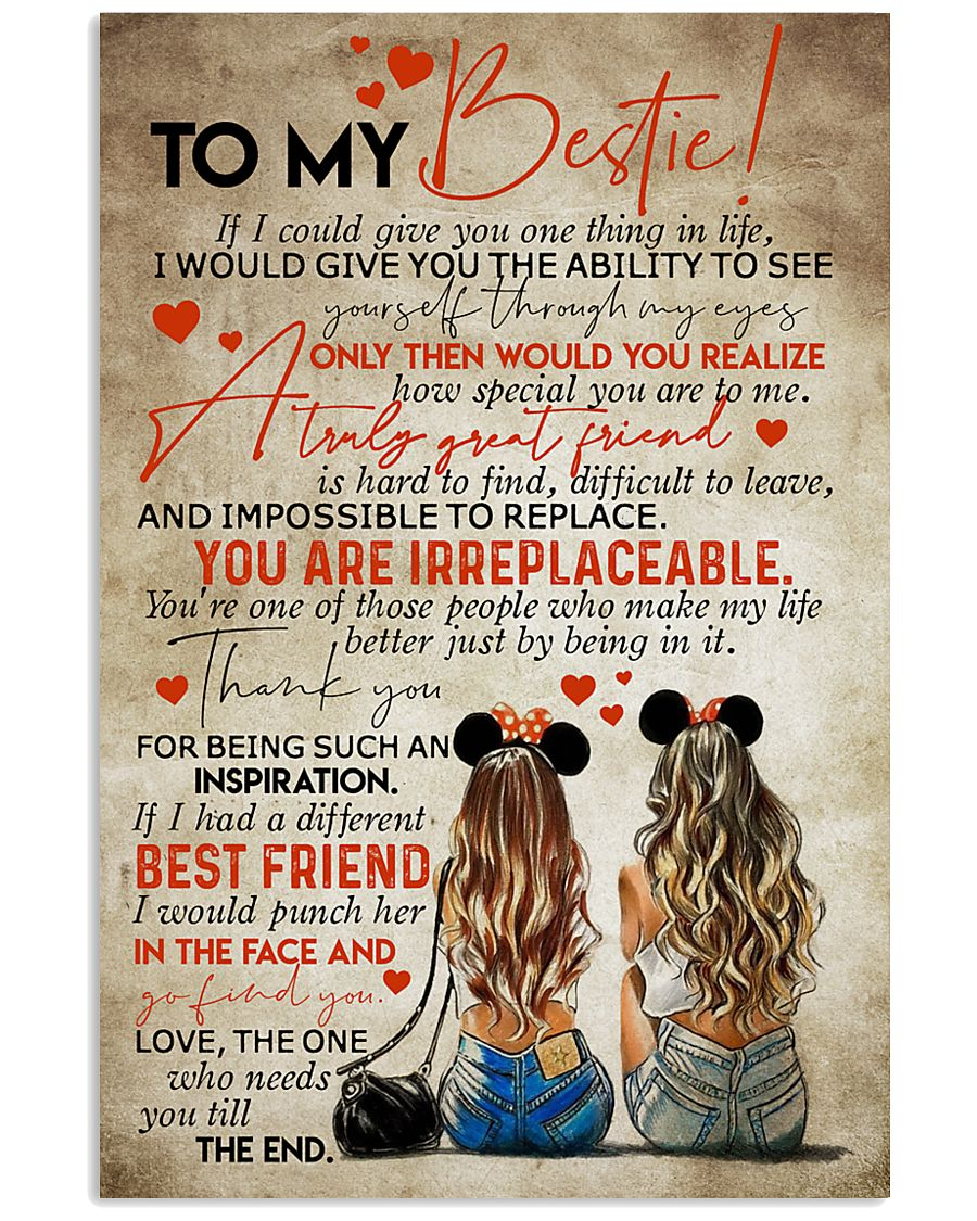 TO MY BEST FRIEND 16x24 Poster