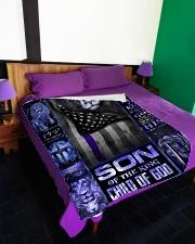 "God - Son Of The King - Fleece Blanket Large Fleece Blanket - 60"" x 80"" aos-coral-fleece-blanket-60x80-lifestyle-front-01"