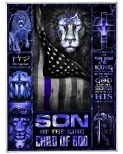 "God - Son Of The King - Fleece Blanket Large Fleece Blanket - 60"" x 80"" front"