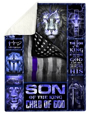 "God - Son Of The King - Fleece Blanket Large Sherpa Fleece Blanket - 60"" x 80"" thumbnail"