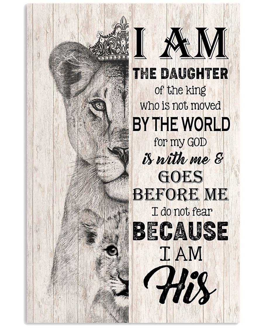 GOD - LION - I AM HIS 16x24 Poster