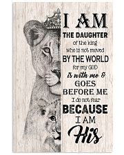 GOD - LION - I AM HIS 16x24 Poster front