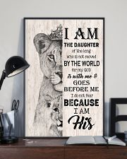 GOD - LION - I AM HIS 16x24 Poster lifestyle-poster-2