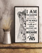 GOD - LION - I AM HIS 16x24 Poster lifestyle-poster-3