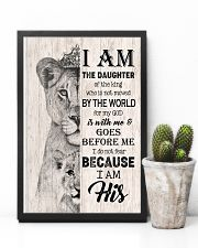 GOD - LION - I AM HIS 16x24 Poster lifestyle-poster-8