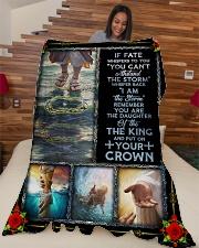 "God - Daughter Of The King - Fleece Blanket Large Fleece Blanket - 60"" x 80"" aos-coral-fleece-blanket-60x80-lifestyle-front-04"