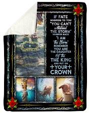 "God - Daughter Of The King - Fleece Blanket Large Sherpa Fleece Blanket - 60"" x 80"" thumbnail"