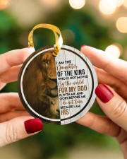 God - Daughter Of The King - Circle Ornament Circle ornament - single (porcelain) aos-circle-ornament-single-porcelain-lifestyles-08
