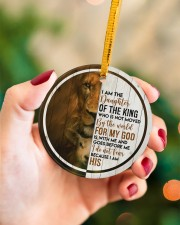 God - Daughter Of The King - Circle Ornament Circle ornament - single (porcelain) aos-circle-ornament-single-porcelain-lifestyles-09