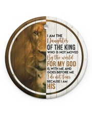 God - Daughter Of The King - Circle Ornament Circle ornament - single (porcelain) front