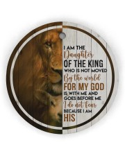 God - Daughter Of The King - Circle Ornament Circle Ornament (Wood tile