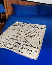 """Bestie - Fleece Blanket Small Fleece Blanket - 30"""" x 40"""" aos-coral-fleece-blanket-30x40-lifestyle-front-02"""