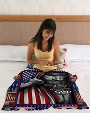 """God - Fleece Blanket Small Fleece Blanket - 30"""" x 40"""" aos-coral-fleece-blanket-30x40-lifestyle-front-12"""