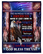 God - Eagle - Proud To Be - Fleece Blanket Fleece Blanket tile