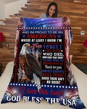 "God - Eagle - Proud To Be - Fleece Blanket Large Fleece Blanket - 60"" x 80"" aos-coral-fleece-blanket-60x80-lifestyle-front-04"