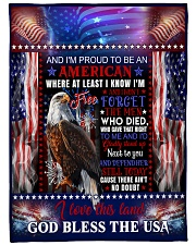 "God - Eagle - Proud To Be - Fleece Blanket Large Fleece Blanket - 60"" x 80"" front"