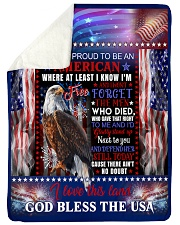 "God - Eagle - Proud To Be - Fleece Blanket Large Sherpa Fleece Blanket - 60"" x 80"" thumbnail"