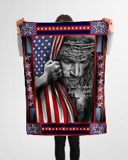 """God - Fleece Blanket Small Fleece Blanket - 30"""" x 40"""" aos-coral-fleece-blanket-30x40-lifestyle-front-14"""