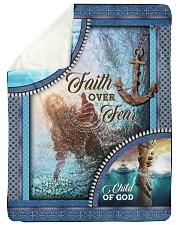 God - Faith Over Fear - Fleece Blanket Sherpa Fleece Blanket tile