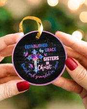 God - Sisters In Christ - Circle Ornament Circle ornament - single (porcelain) aos-circle-ornament-single-porcelain-lifestyles-08