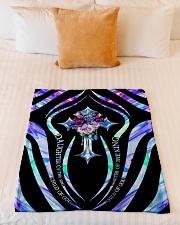 "God - Daughter Of The King - Blanket Small Fleece Blanket - 30"" x 40"" aos-coral-fleece-blanket-30x40-lifestyle-front-04"