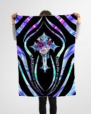 "God - Daughter Of The King - Blanket Small Fleece Blanket - 30"" x 40"" aos-coral-fleece-blanket-30x40-lifestyle-front-14"