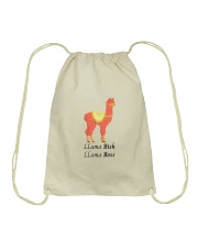 Llama Bish Llama Boss Drawstring Bag thumbnail