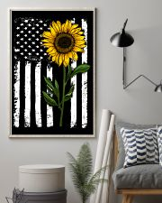American Flag Sunflower 16x24 Poster lifestyle-poster-1