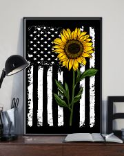 American Flag Sunflower 16x24 Poster lifestyle-poster-2