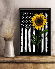 American Flag Sunflower 16x24 Poster lifestyle-poster-3