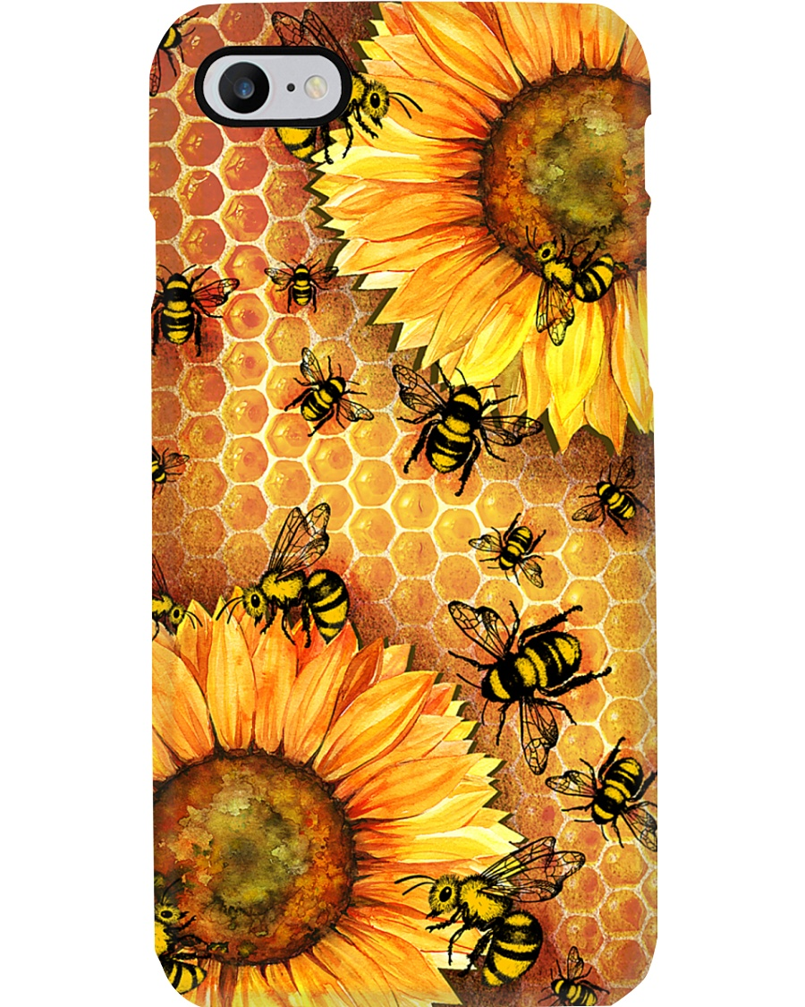 Honey Bee Sunflower Phone Case