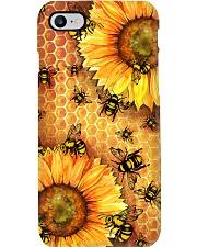 Honey Bee Sunflower Phone Case i-phone-8-case