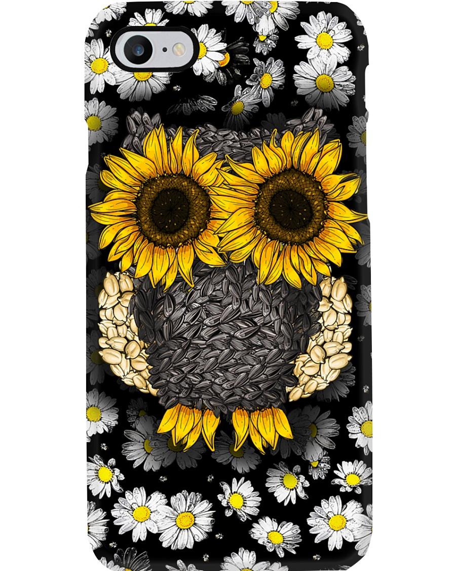 Daisy And Sunflower Owl Phone Case