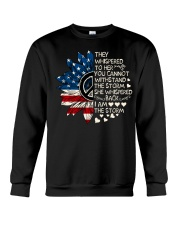 I Am The Storm Sunflower Crewneck Sweatshirt thumbnail