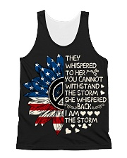 I Am The Storm Sunflower All-over Unisex Tank thumbnail