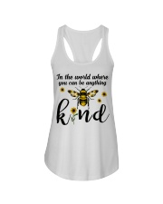 In The World Where You Can Be Anything Be Kind Ladies Flowy Tank thumbnail