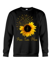 Peace Love Music Sunflower Crewneck Sweatshirt thumbnail