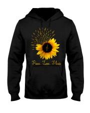 Peace Love Music Sunflower Hooded Sweatshirt thumbnail