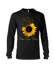 Peace Love Music Sunflower Long Sleeve Tee thumbnail