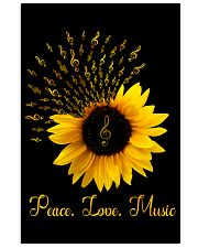 Peace Love Music Sunflower 16x24 Poster thumbnail