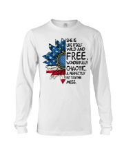 She Is Life Itself American Flag Sunflower Long Sleeve Tee thumbnail